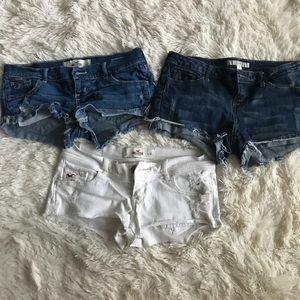 Bundle Of Distressed Jean Shorts